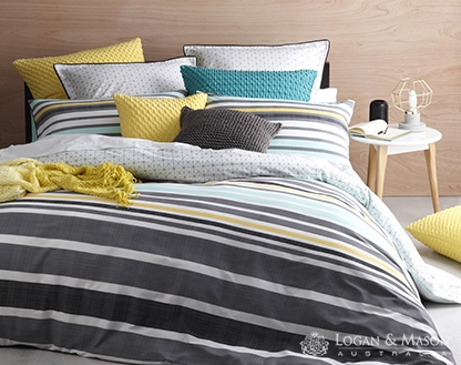 L&M Miami Mint King Duvet Cover Set