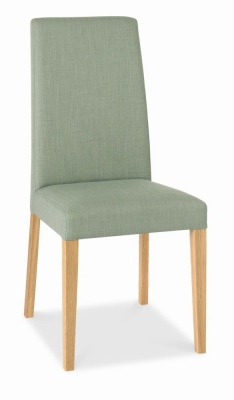 Miles Dining Chair Oak Legs Aqua Fabric