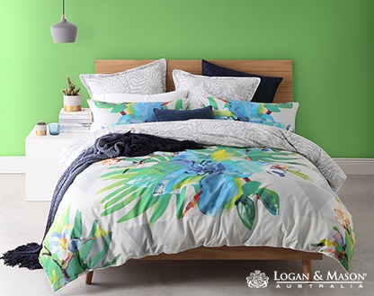 L&M Mirage Tropic King Duvet Cover Set