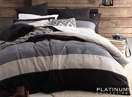 Platinum Morrison Smoke King Duvet Cover Set