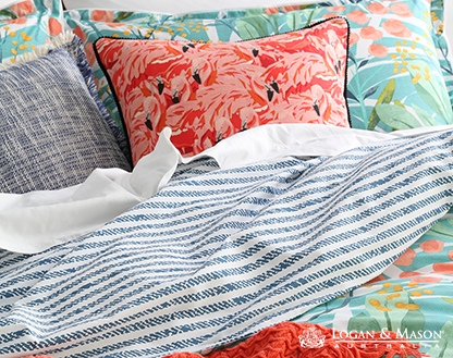 L&M Norfolk Teal King Duvet Cover Set