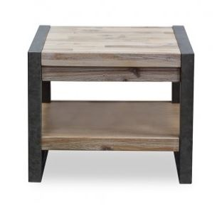 Piha Lamp Table 500X500XH400 Foggy Grey Acacia