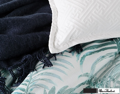 Florence Broadhurst Palms Teal King Duvet Cover
