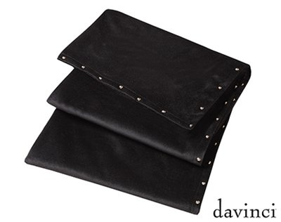 Preston Black Velvet Bed Runner 70X240Cm