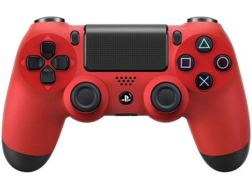 Sony Dual Shock Ps4 Wireless Controller Red V2