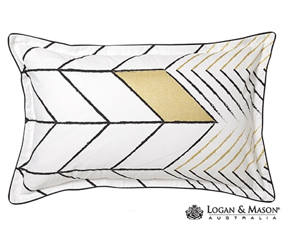 L&M Rio Gold Queen Duvet Cover Set