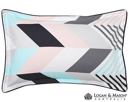L&M Rio Mint Single Duvet Cover Set
