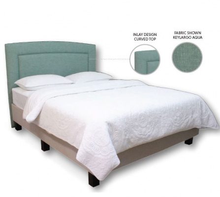Rosa 1500 Upholstered Super King Curved Headboard