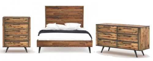 Rustic Skandy Queen Slat Bed 3PC Suite