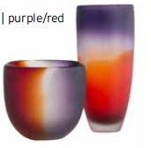 Shadow Vase Purple Red 15.5X15.5X36CM