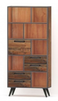 Rustic Skandy Bookcase 4 Drawer W1000Xd350Xh2000