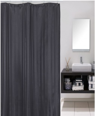Cloud 9 Stripe Slate 120X180Cm Shower Curtain