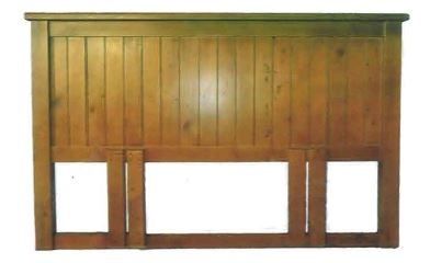 Black Arrow Pine Queen Headboard 1530X80X1200MM