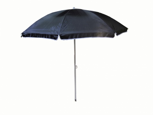 Cheerful Beach Umbrella 1.8M 22Mm Pole Black Fabri