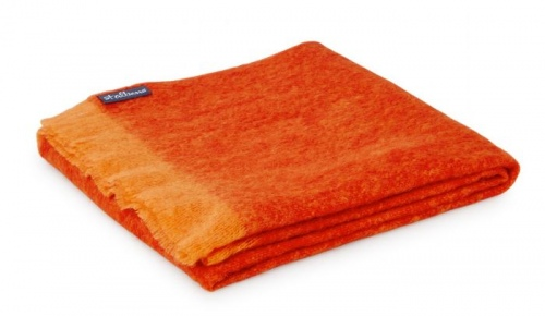 ST Albans Papaya 100% Mohair Throw Rug 122X183CM