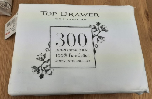 Top Drawer 300Tc Cotton/Sateen Queen White