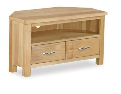 Trinity Corner TV Unit Light Oak 900X440X480H