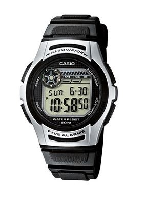 Casio Standard Black Silver Digital Watch