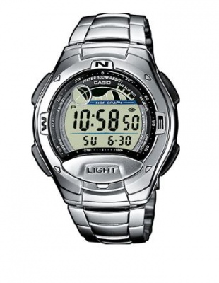Casio Standard Stainless Digital Watch Tide Graph