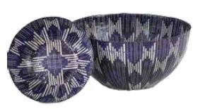 Wola Nani Indigo Stripes Large Bowl 42.2X21CM
