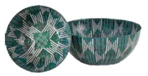 Wola Nani Teal Stripes Small Bowl 23.5X8Cm