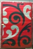 Urban Red Grey Koru Rug 1.6X2.3 Bcf Olefin