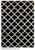 Royal Black Cream Geo Pattern Chunky Rug 1.6X2.3