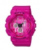 Baby-G Hot Pink Silver Stripe Analogue Watch