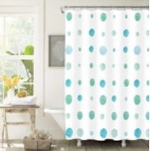 Derek Corp Dotty Shower Curtain 180X180Cm