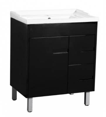 Crystal Fs 700 Single Black Vanity 710X465X860Mm