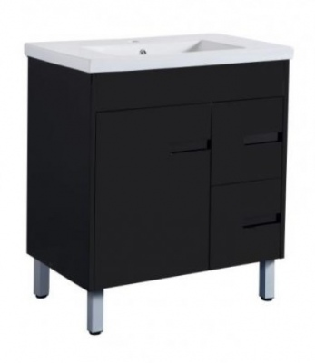 Crystal Fs 750 Single Black Vanity 760X465X860Mm