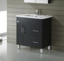 Nova Fs 900 Single Black Vanity 915X465X850Mm