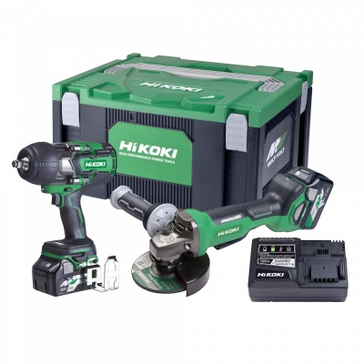 Hikoki 36V Impact Wrench And Grinder Combo Kit