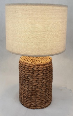Wicker Texture Cement Lamp Natural 28X47Cm