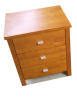 Camden 3DR Bed Cabinet Pine Stain 545X425X635