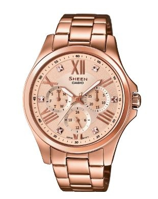Sheen Classic Pink Gold Stainless Analogue Watch