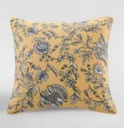Simone Gold Printed Cotton Cushion 50X50