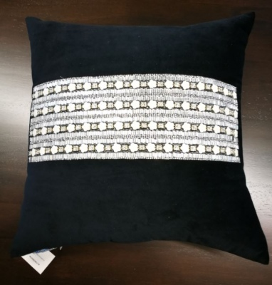 Bella Vista Black Velvet Cushion 45X45Cm