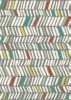 Royal Grey Orange Teal Yellow Bars Chunky 1.6X2.3M
